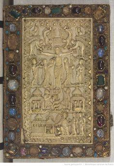 Evangéliaire. In Latin, 875-900 Source: Bibliotheque nationale de France Departement des Manuscrits, Latin 9453.