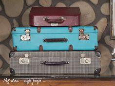 renovation, old suitcase, home decor. diy