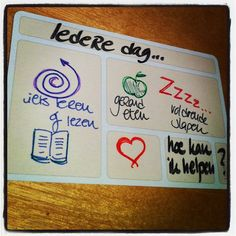 Life-essentials kunnen ook op een usem notecard... Wat is belangrijk in jouw leven?