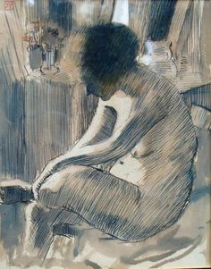 Armand Rassenfosse, seated study on ArtStack #armand-rassenfosse #art