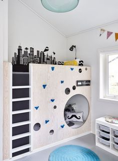 Here are our best interior design photos for a kids room. We hope you feel inspired after seeing what we prepared for you at hackthehut.com #BunkBeds
