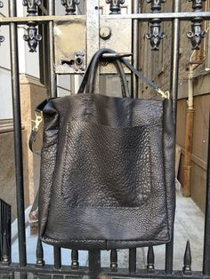 Large black tote  carry on carry all luxury by LUSCIOUSLEATHERNYC, $499.00