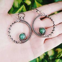 wire wrap handmade earrings - Google Search #earringsprojects