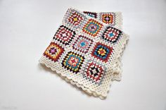 CHARITY DONATION Crochet wrap shawl poncho throw blanket afghan lap quilt home decor / by Nastiin