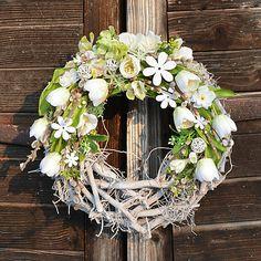 Hydrangea / Jarný veniec na dvere