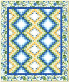 Happy Garden Bargello Quilt Pattern