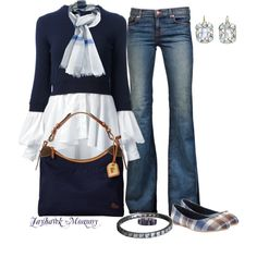 Study in Blues, created by jayhawkmommy on Polyvore