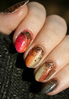 Mom, Mrs., and Me: Challenge Your Nail Art: Fall Colors