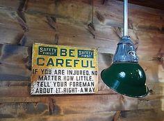 Vintage 30s Benjamin Explosion Proof Industrial Pendant Light Gas Station Barn 6
