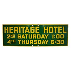 Vintage Heritage Hotel sign available at www.ideavintage.pl