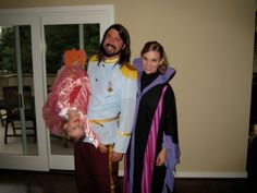 Dave dressed for Halloween as Prince Charming.  Here's to giving your kids a normal childhood!!!