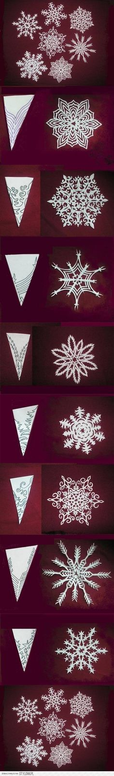 DIY Snowflakes Paper Pattern Tutorial DIY Projects | Us… na Stylowi.pl