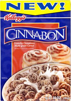 Cinnabon cereal. MOST FAVOURITE CEREAL EVER.