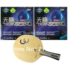 Sanwei CC blade + 2 peices of 729 Transcend rubber with sponge for a table tennis / pingpong racket Long Shakehand FL #Affiliate