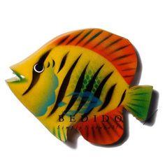 pescados pintados en madera - Buscar con Google