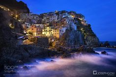 Night Shot of Cinque Terre Italy by JosephGoh LandScapes Photography #InfluentialLime