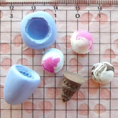 3D Ice Cream with Cone (11mm) Silicone Flexible Push Mold - Miniature Food, Sweets, Jewelry, Charms (Clay, Fimo, Resins, Gum Paste, Fondant). $5,95, via Etsy.