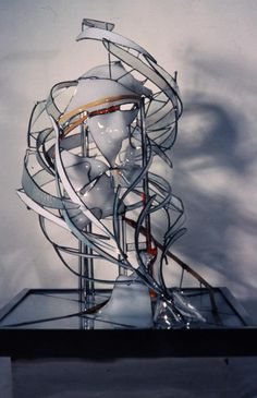 Stained glass sculpture by ERIC Bonte Master glass artist since 1979
