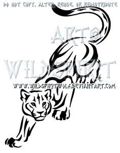 Prowling Panther Tribal Design by WildSpiritWolf.deviantart.com on @deviantART