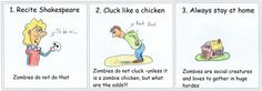 Funny guide on how to survive zombies