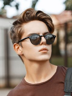 Longer Quiff Boy Hairstyle