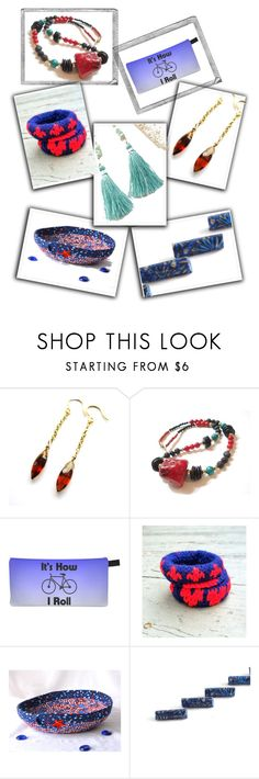 """""""Summer Fun"""" by fibernique ❤ liked on Polyvore featuring Polaroid, etsy, jewelry, accessories, EtsyShops and etsysellers"""