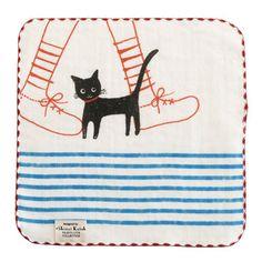 [ZAKKA SHOP Shinzi Katoh Collection]Handkerchief [Cat]