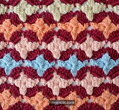 MyPicot | Free crochet patterns - Cluster Flower Stitch