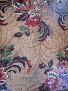 shabby cottage vintage floral rug linoleum shabby cottage pinterest cottages vintage and. Black Bedroom Furniture Sets. Home Design Ideas