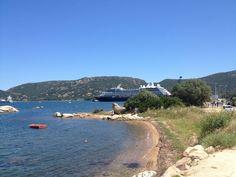 Azamara Quest in Corsica such a pretty stopover