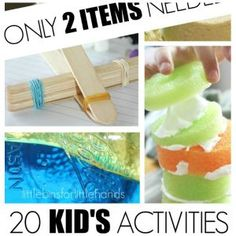 20 Kids activities using only 2 items
