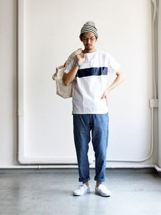 maillot Chambray Easy Pants MAP-041 Japan Fashion, Daily Fashion, Boy Fashion, Fashion Looks, Mens Fashion, Fashion Outfits, Japanese Outfits, Well Dressed Men, Fashion Images