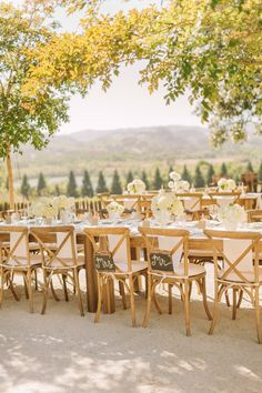 Outdoor Wedding | See more of this winery wedding on SMP: http://www.StyleMePretty.com/2014/02/03/intimate-copain-winery-wedding/ Matt Edge Wedding Photography
