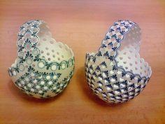 Hobbies And Crafts, Arts And Crafts, Carved Eggs, Egg Basket, Egg Art, Egg Decorating, Egg Shells, Easter Eggs, Easy Diy