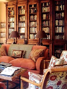 This is my dream... Walls lined with hundreds and hundreds of books....