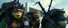 TMNT: Out of the Shadows Movie Pictures. Donnie, Mikey & Leo on plane, waiting for Raph.