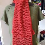 Gridwork Scarf- Lightweight for fall. Free Crochet Pattern at TheYarnBox.com