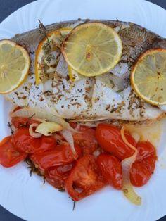 Dorade auf Fenchel - My Blog Low Carb, Fish, Meat, Blog, Fennel, Good Food, Easy Meals, Food Food, Bakken