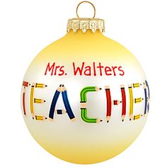 teacher #personalized #Christmas #teacher #ornaments $9.99 #BronnersChristmasWonderland #Bronners