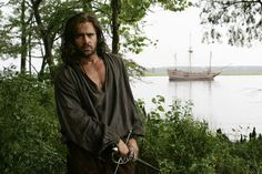 "Colin Farrell - in the movie ""New World""."