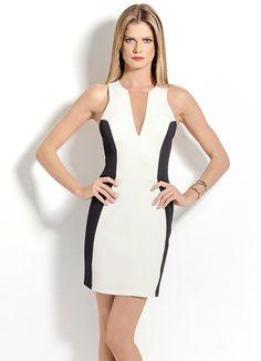 Vestido Colcci Tubinho (Preto e Branco)