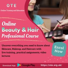 Have keen interest in learning different makeup styles or hair styling? Now acquire hair styling skills and beauty skills online through practical assignments, video lectures, live training session, etc. Hurry Up! Join Beauty and Hair Professional Course offered by Online Training & Education (OTE) and uncover everything that you need to know about haircare and makeup. Course Offering, Need To Know, Hair Care, Hair Beauty, Education, Learning, Join, Live, Makeup