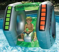 Starfighter Squirter Inflatable Swimming Pool Float Just leaving this here ...