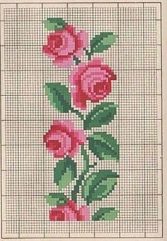 Beaded Cross Stitch, Cross Stitch Rose, Crochet Cross, Cross Stitch Flowers, Cross Stitch Embroidery, Cross Stitch Pillow, Cross Stitch Borders, Cross Stitch Designs, Cross Stitching