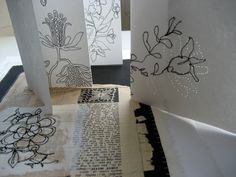 Artists Books and Sketchbooks - Mandy Pattullo. Love the stitched pages