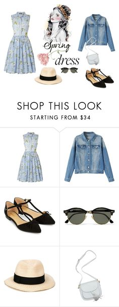 """""""untitled 80"""" by deboraaguirregoncalves on Polyvore featuring moda, French Connection, Accessorize, Ray-Ban e Eugenia Kim"""