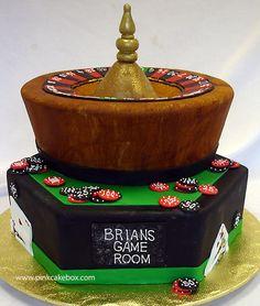 Bar Mitzvah Casino Cake by Pink Cake Box
