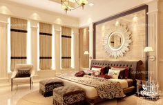 Arabic villa interiors always provide an efficient design Exterior Design, Interior And Exterior, Luxury Bedroom Design, Victorian Furniture, Luxurious Bedrooms, Valance Curtains, Luxury Homes, Home Furniture, Villa