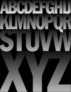 Alphabet No. 116 Franklin Gothic Cond.