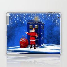 10th Doctor who Santa claus LAPTOP & IPAD SKIN #laptop #skins #iPadminicase #accessories #digital #acrylic #comic #cartoon #illustration #christmas #newyear #tardisdoctorwho #doctorwho #tardis #timelord #badwolf #drwho #timetravel #scifi